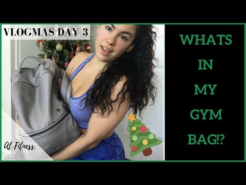 WHATS IN MY GYM BAG | AT FITNESS