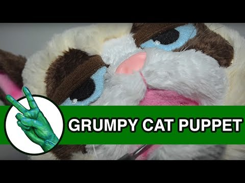 Grumpy Cat Hand Puppet Tardar Sauce - Runforthecube Toy Review