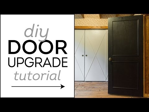 DIY Easy Door Upgrade Tutorial: Cottage House Flip Episode 4