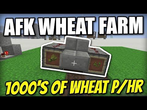 Minecraft PS4 - AFK WHEAT FARM - NANO FARM - Tutorial ( PS3 / XBOX / WII U / PE )