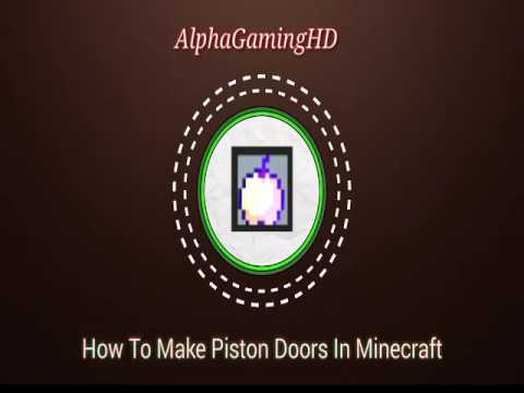 How To Make Automatic Piston Door in Minecraft (XBOX 360, XBOX ONE, PS3, PS4, pocket edition)