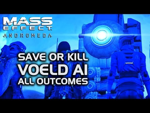 Mass Effect Andromeda - Save or Kill the Voeld AI (All Outcomes)