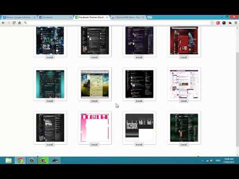 how to Get FaceBook Theme. Facebook Theme Extension for Google Chrome.