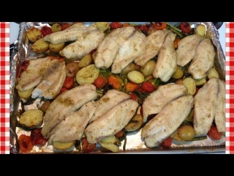 Roasted Vegetable and Tilapia Sheet Pan Dinner ~ Noreen's Kitchen
