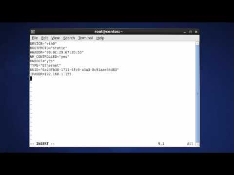 Setup Network in CentOS 6 - Static mode