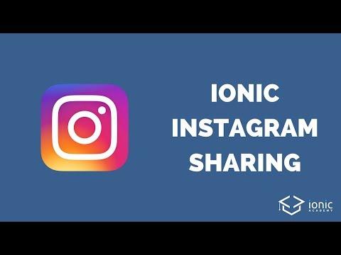 Ionic Instagram Image Share