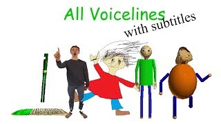 All Voicelines with Subtitles | Baldi
