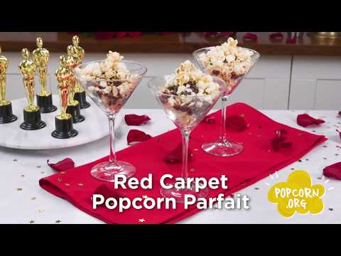 Red Carpet Popcorn Parfait