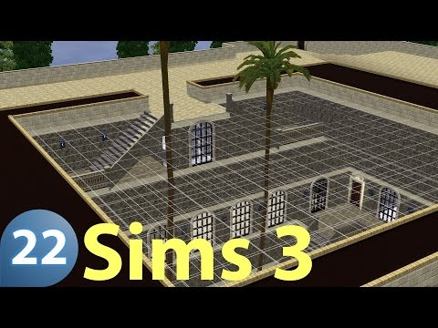 The Sims 3 - RoofTop and Central Garden 1 - Top of the Hill Castle 22 - Let's Build (Real Time)
