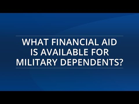 What Financial Aid is Available for Military Dependents?