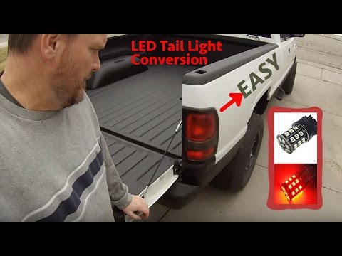 1999 Dodge Ram EASY LED Tail Light Turn Signal Conversion for CHEAP! Fast Flasher fix