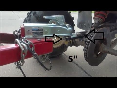 Custom trailer Ball hitch for a Polaris ATV