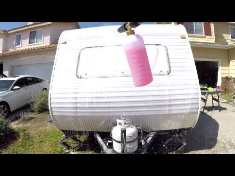 Foam Wash a Trailer or RV Quick and Easy!