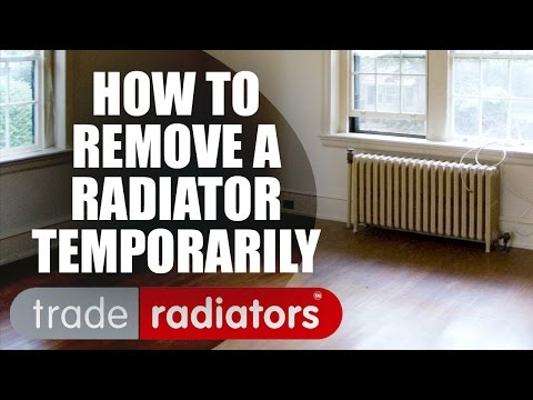 How To Remove A Radiator Temporarily by Trade Radiators