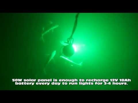 Underwater Fishing LED Light Solar System