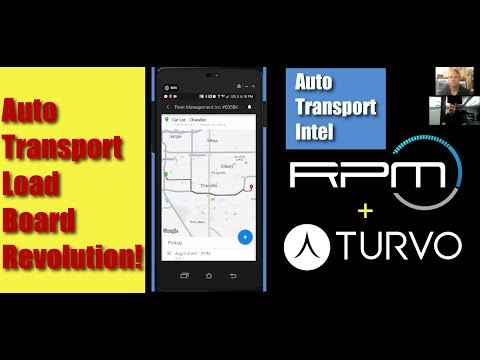 Auto Transport Load Board Technology: RPM Turvo Driver Car Hauling TMS