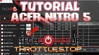 Undervolt CPU Test On Acer Nitro 5 w/GTX 1050 Ti, Temp
