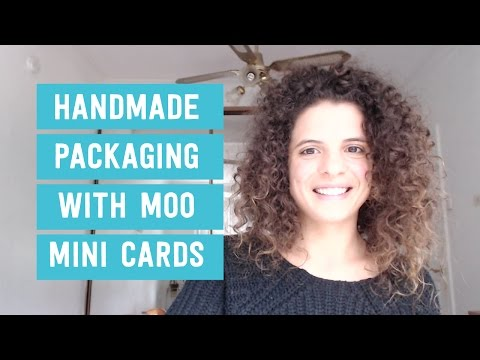 Improve your handmade packaging with moo mini cards