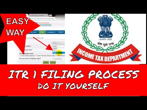 how to file online ITR 1 for salaried person for AY 2017-18 | ITR-1 online filing process