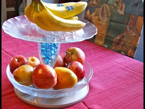 DIY Fruit Display Stand-Fruit tray tower