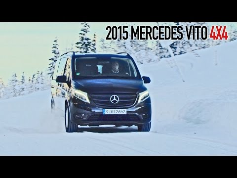 Mercedes Vito 4x4 (2015) Test Drive on Snow