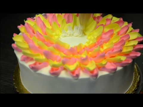 How to make a easy flower Cake