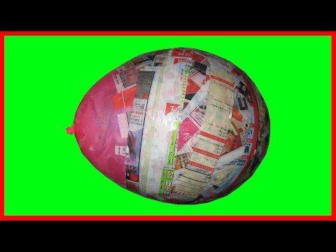 How to Mix Papier Mache to Make a Balloon Head