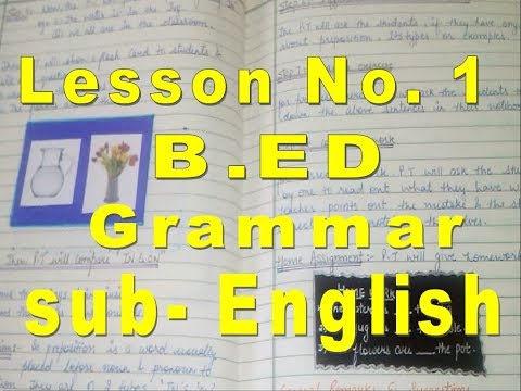 B.Ed lesson plan for English | lesson plans for english teachers | english lesson plan