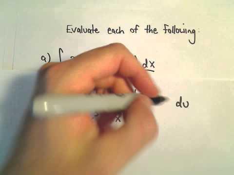 Calculus : U-substitution Involving Trigonometric Functions - Ex 1
