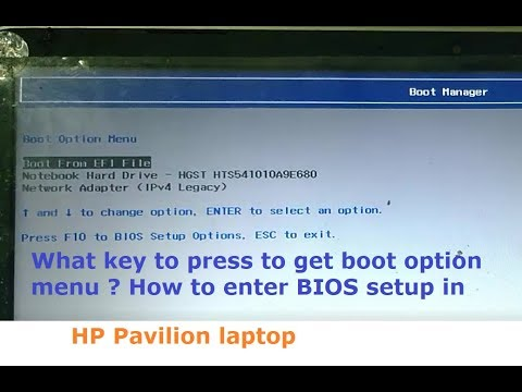 How to open bios in hp pavilion laptop -