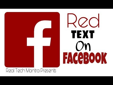 How To Type Red Colour Text On Facebook || Message, Comment & Post in Red Colour Text || RED