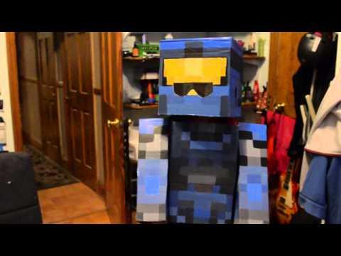 Minecraft  Halo Spartan Costume for New York Comic Con!