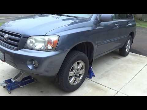 How to jack up a Toyota Highlander