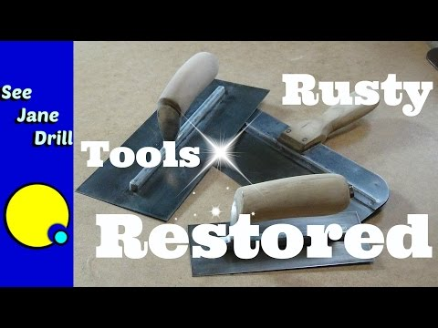 How to Clean and Restore Drywall and Plastering Tools