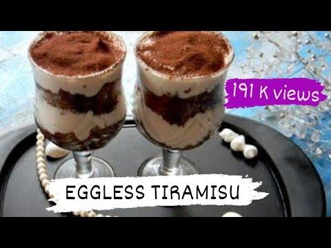 How to make Tiramisu (Eggless)|No Bake Dessert |Quick & Easy Recipe|Valentine's Special|Food Fiestaa