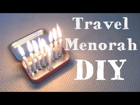 Travel Menorah ♥ 8 DIYs of Hanukkah