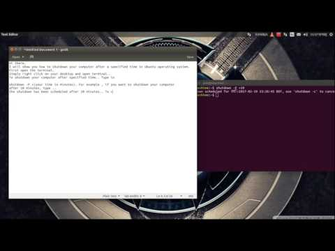 Shutdown after a certain time - Ubuntu and other Linux operating systems