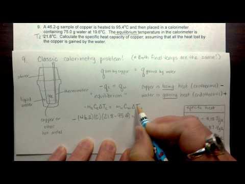 Calorimetry and specific heat calcs
