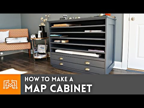 How to make a Map Cabinet // Woodworking