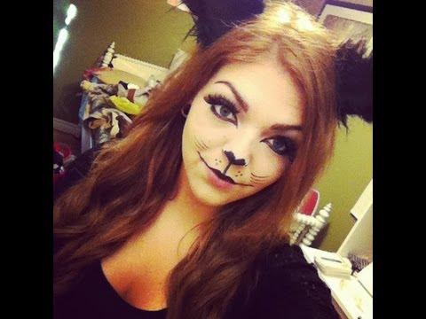 Black Cat Halloween Makeup Tutorial