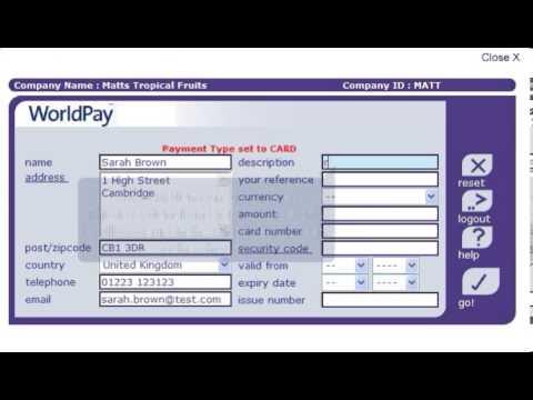 WorldPay Virtual Terminal Tutorial
