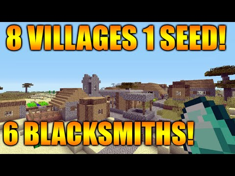 ★Minecraft Xbox 360/PS3 TU31 Seed - 8 Villages, 6 Blacksmiths, 2 Desert Temples, 1 Surface Spawner★