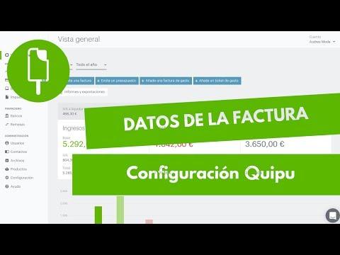 2- Configuración de Quipu - Datos de la factura