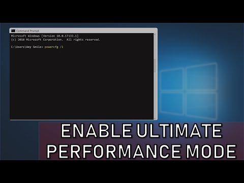 Enable Ultimate Performance Mode in Windows 10 (ANY EDITION)