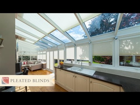 pure™ Pleated Window Blinds by Conservatory Blinds Limited