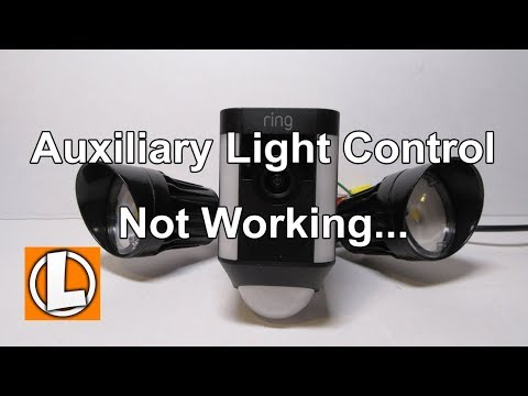 Ring Spotlight Cam Mount - Auxiliary Light Control Issue - Not working