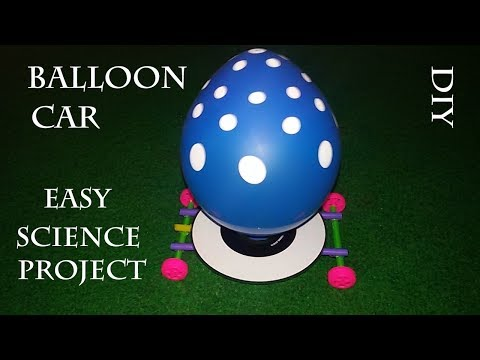 Make Your own Balloon Car out of CD and Plastic Straws, Science Fair Projects