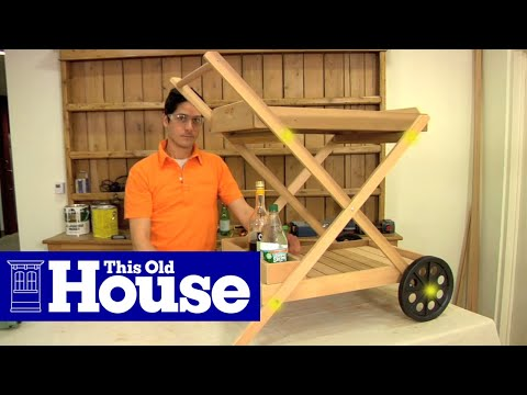 How to Build an Outdoor Bar Cart - This Old House