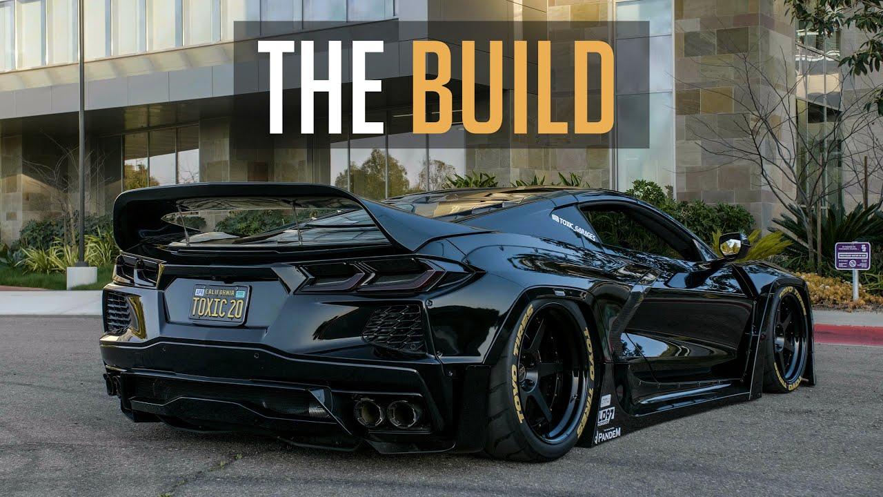 THE NECK-BREAKING C8 CORVETTE *World's First Bagged and Wide Body*   THE BUILD