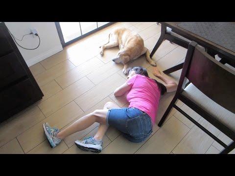 WIFE CAUGHT FLOOR NAPPING! - GAQ 8/20/2016